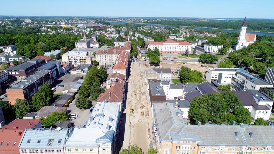 Šiaulių miesto prisikėlimo aikštės rekonstravimo darbai